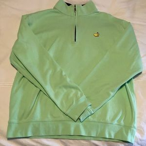 Green Masters Collection 1/4 Zip, size M